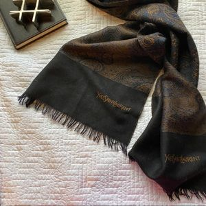 YSL | paisley print light weight soft wool scarf